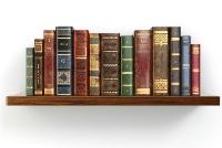 book shelf with books