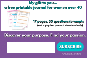 sign up for a free self-reflection journal for women over 40