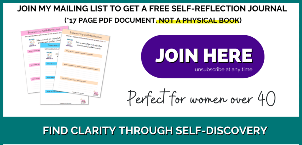 join my mailing list for a free PDF self-reflection journal