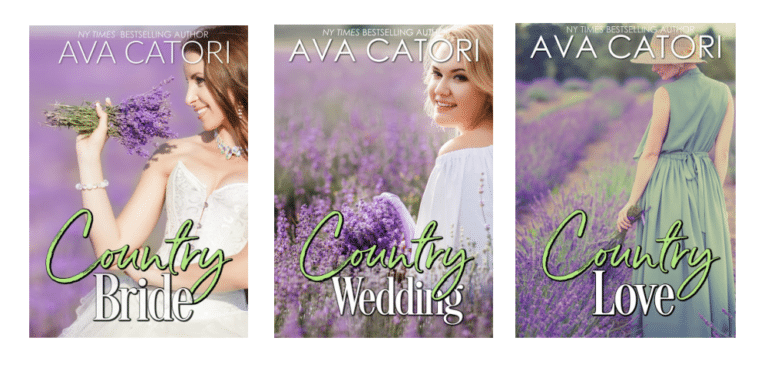 three books: country bride, country love, country wedding